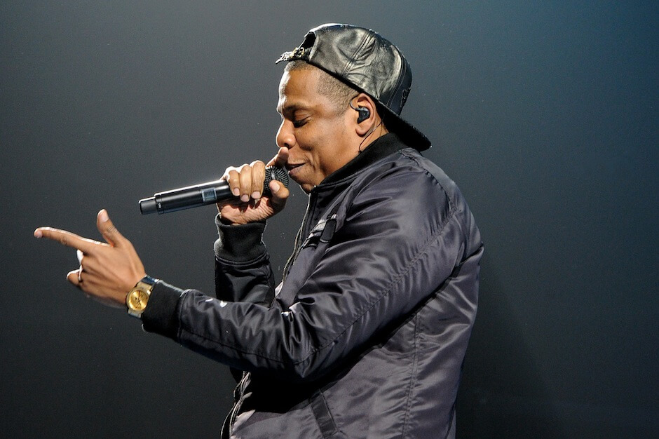 Hip Hop artist Jay Z performs at The Staples Center on December 9, 2013 in Los Angeles, California.