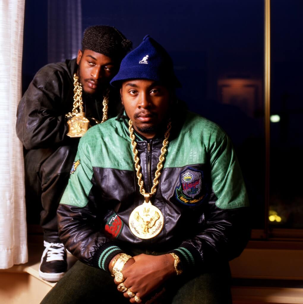 Rakim (left) and Eric B (right) in London 2 November 1987. Photo by David Corio/Getty Images