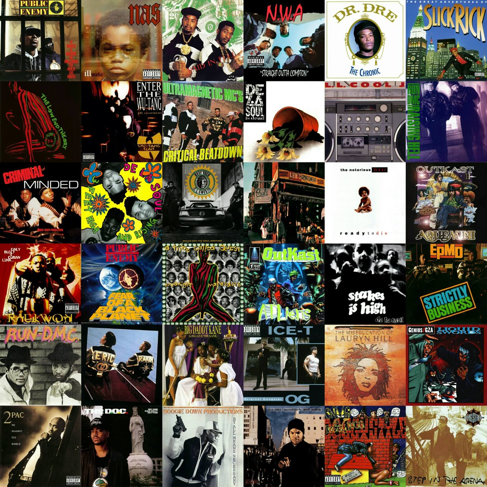 Top 300 hip hop albums 1980 1999 hip hop golden age for Classic house albums 90s