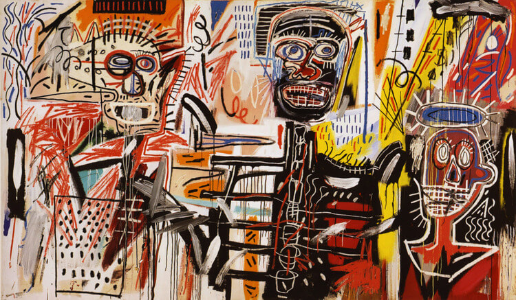 """Philistines"" by Jean Michel Basquiat"
