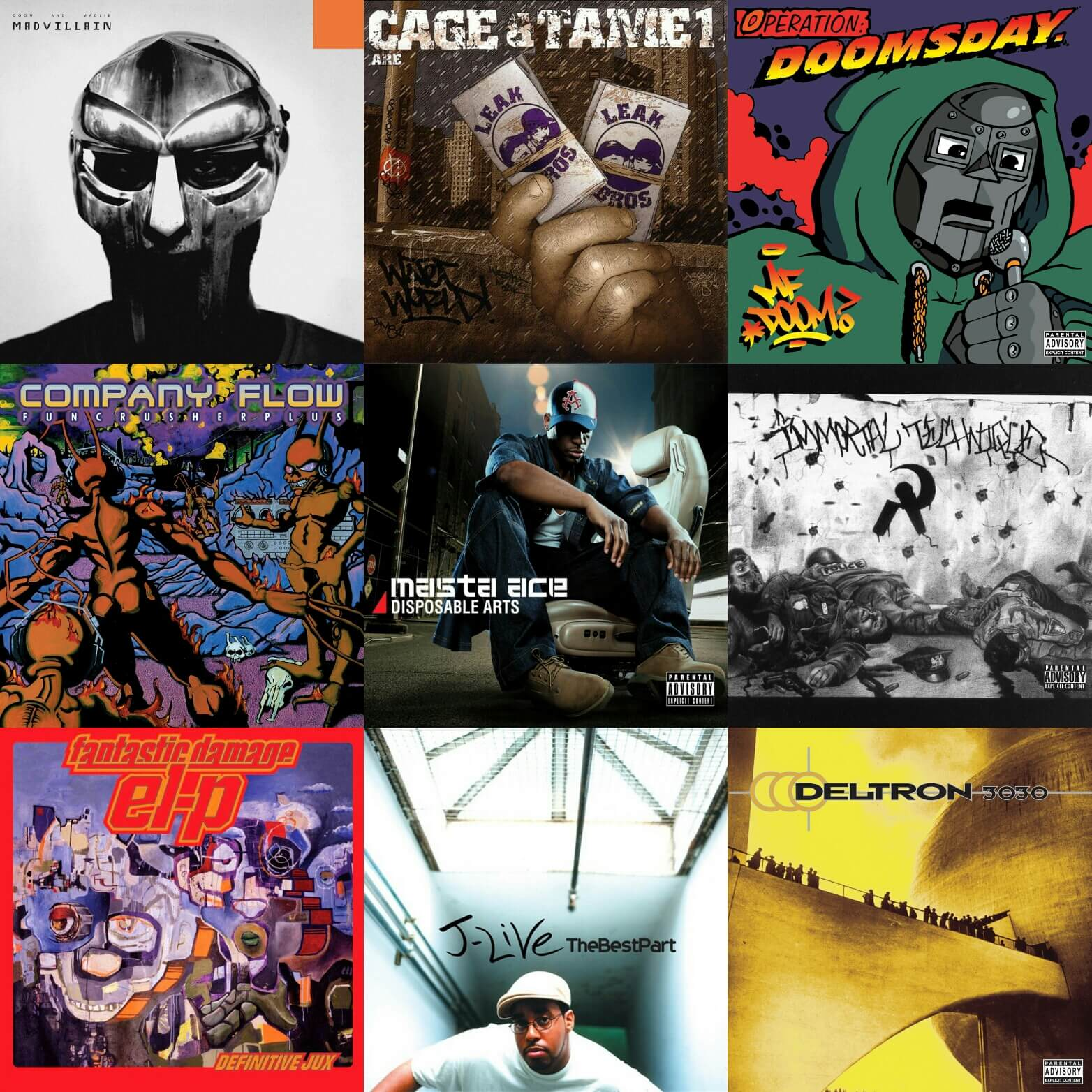 25 Hip Hop Song: Top 25 Underground Hip Hop Albums... Of All Time