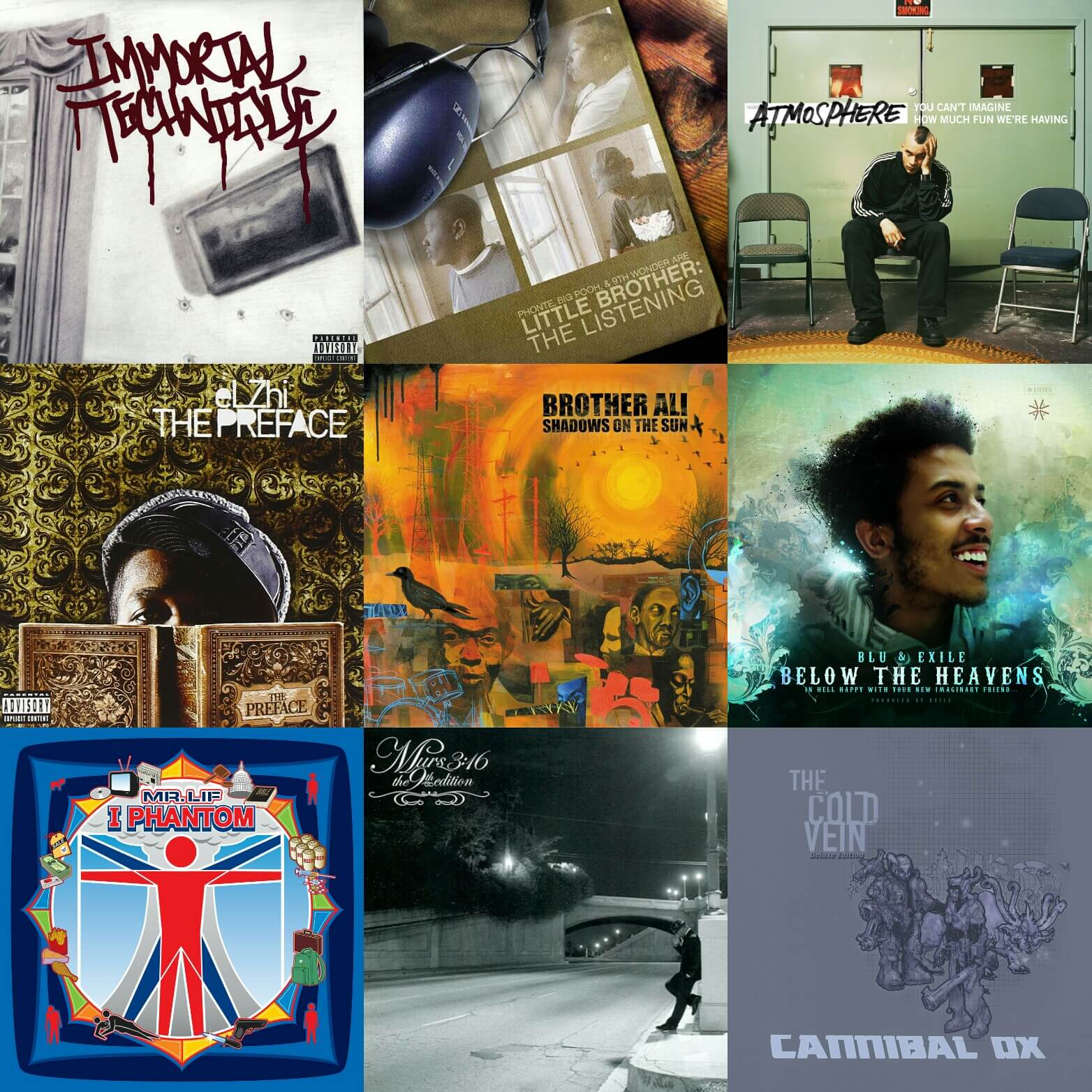 Top 25 Underground Hip Hop Albums    Of All Time - Hip Hop