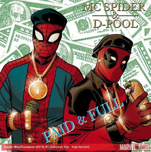 Hip Hop Marvel Variant Cover Eric B And Rakim Paid In Full