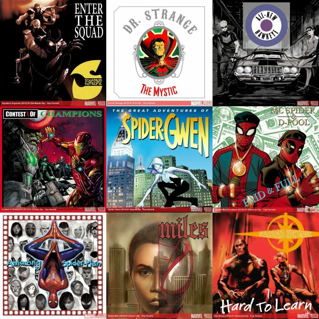 Hip Hop Marvel Variant Covers