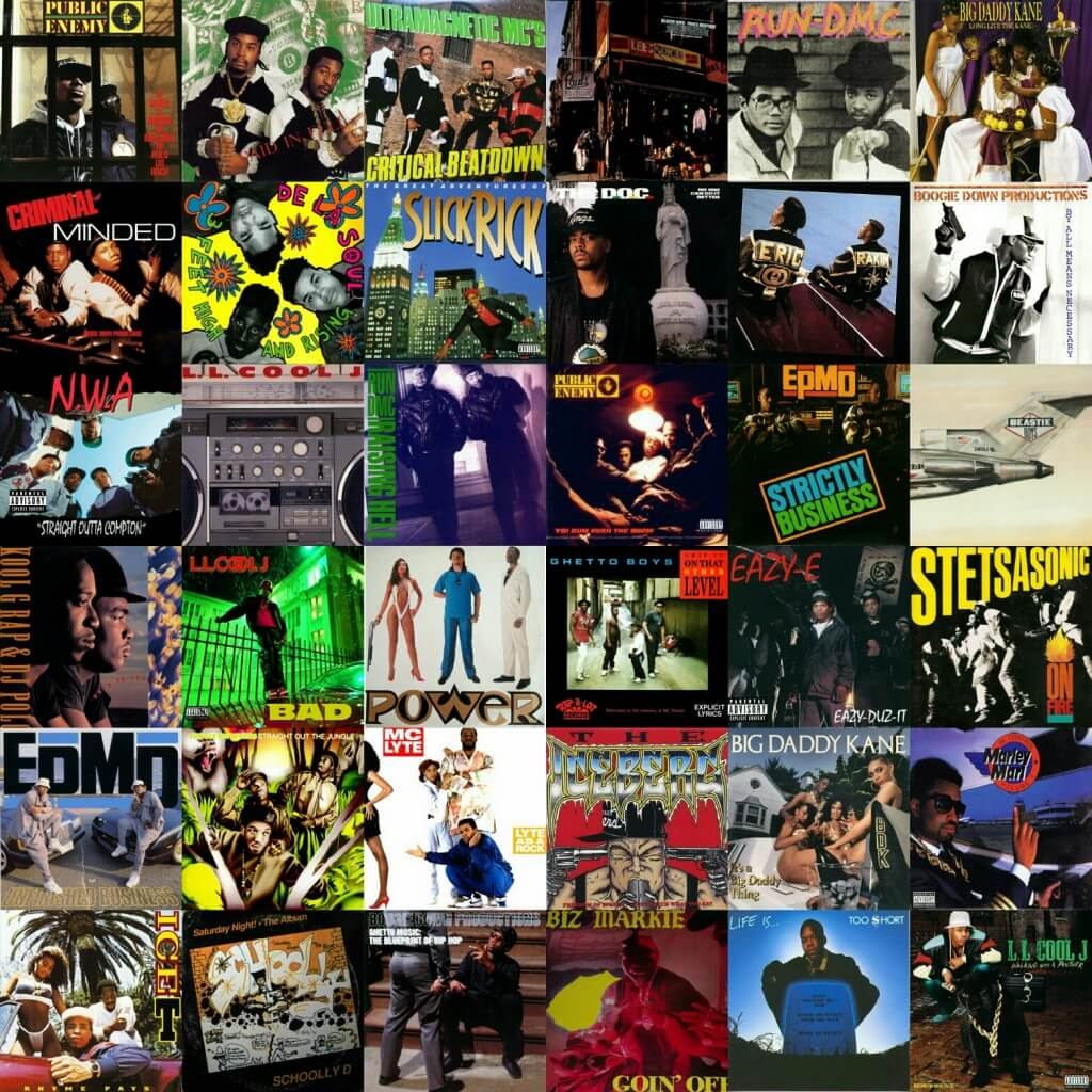 Hip Hop Golden Age 8os Album Covers