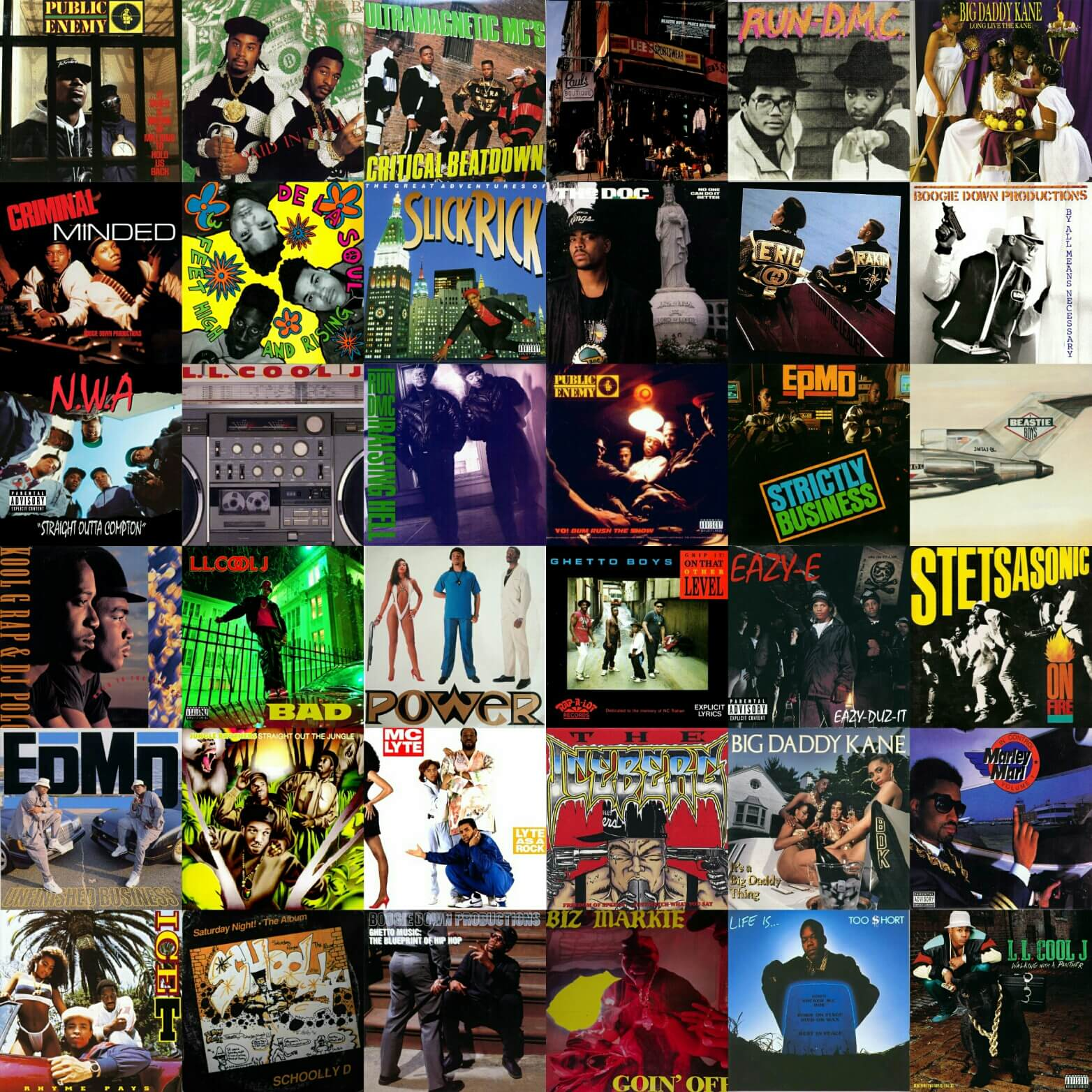 Top 100 hip hop albums of the 1980s hip hop golden age for Classic house albums 90s