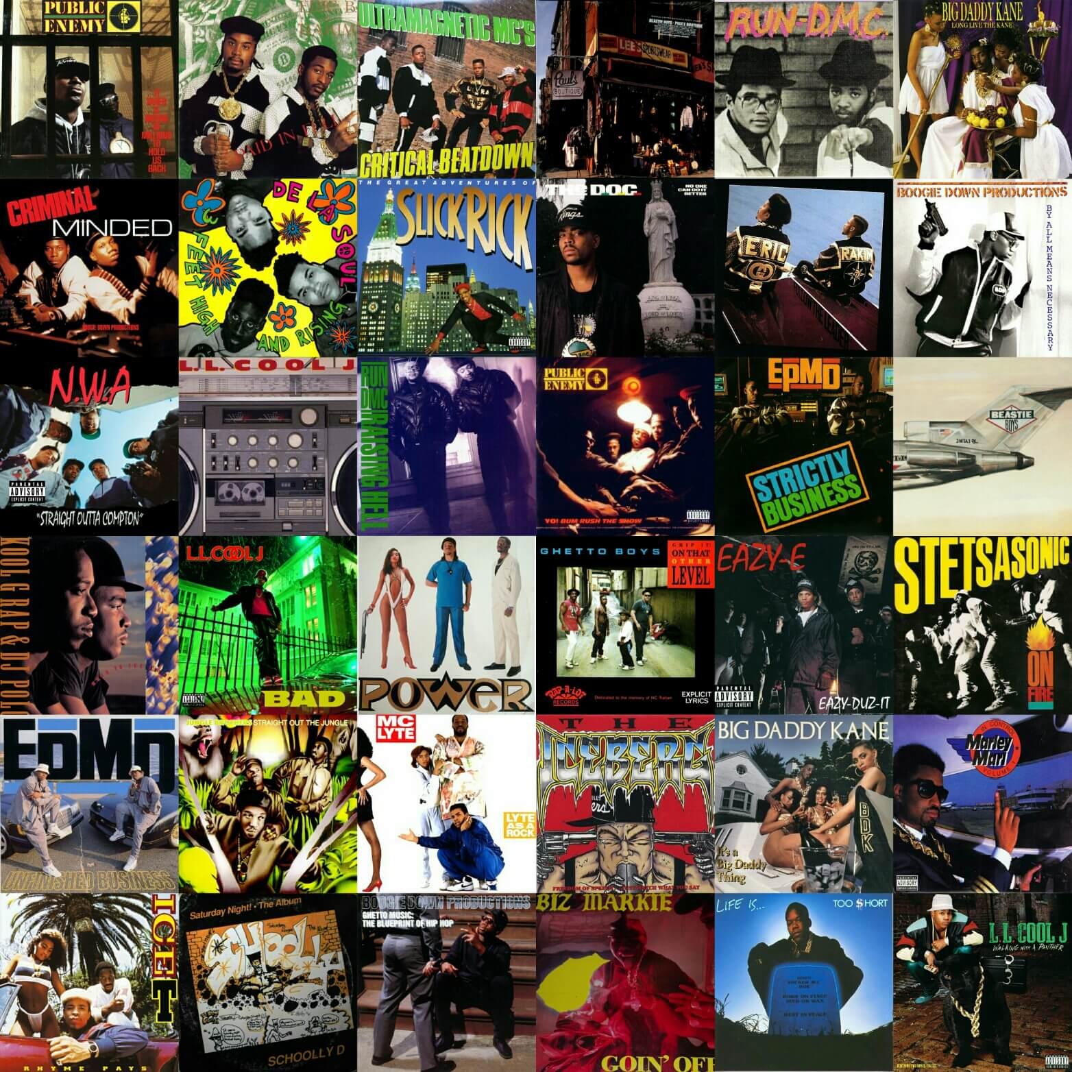 Top 100 Hip Hop Albums Of The 1980s - Hip Hop Golden Age Hip
