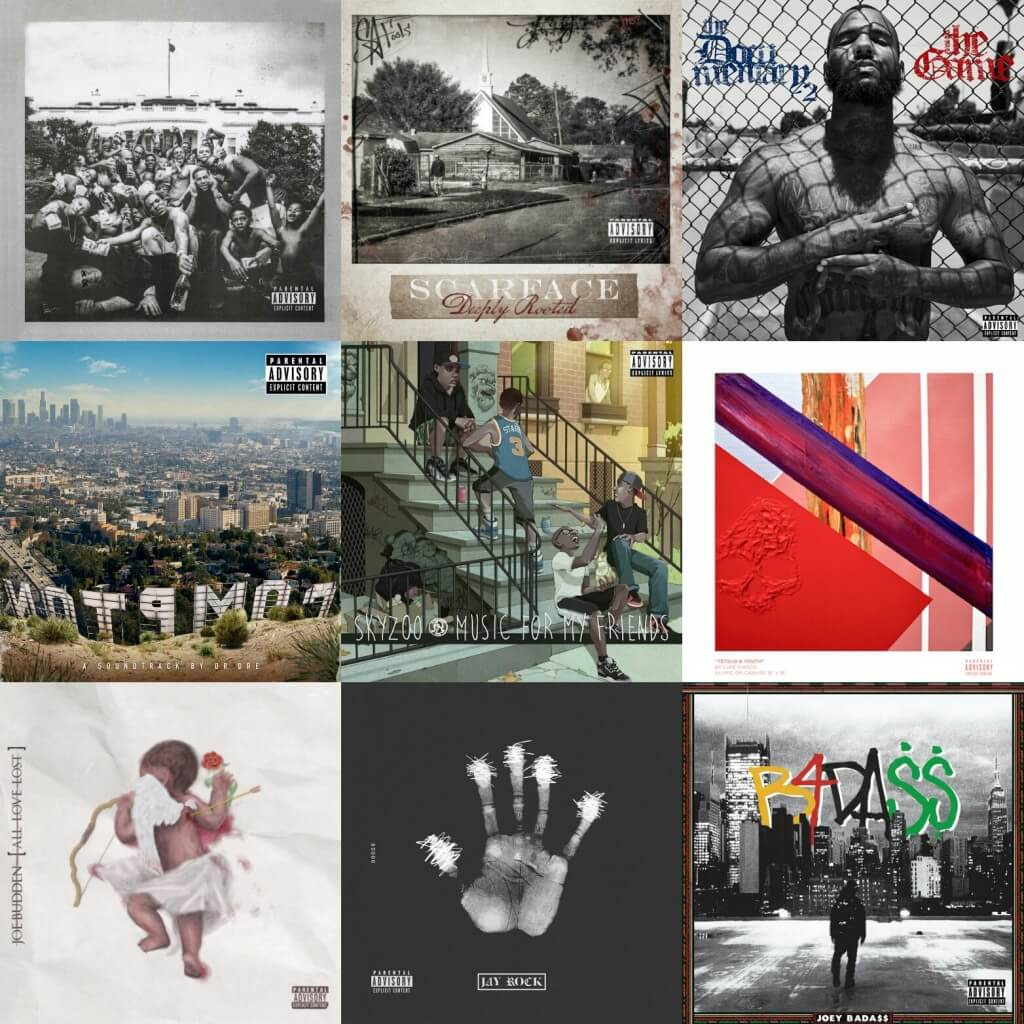 Top 25 Hip Hop Albums 2015 HipHopGoldenAge HHGA