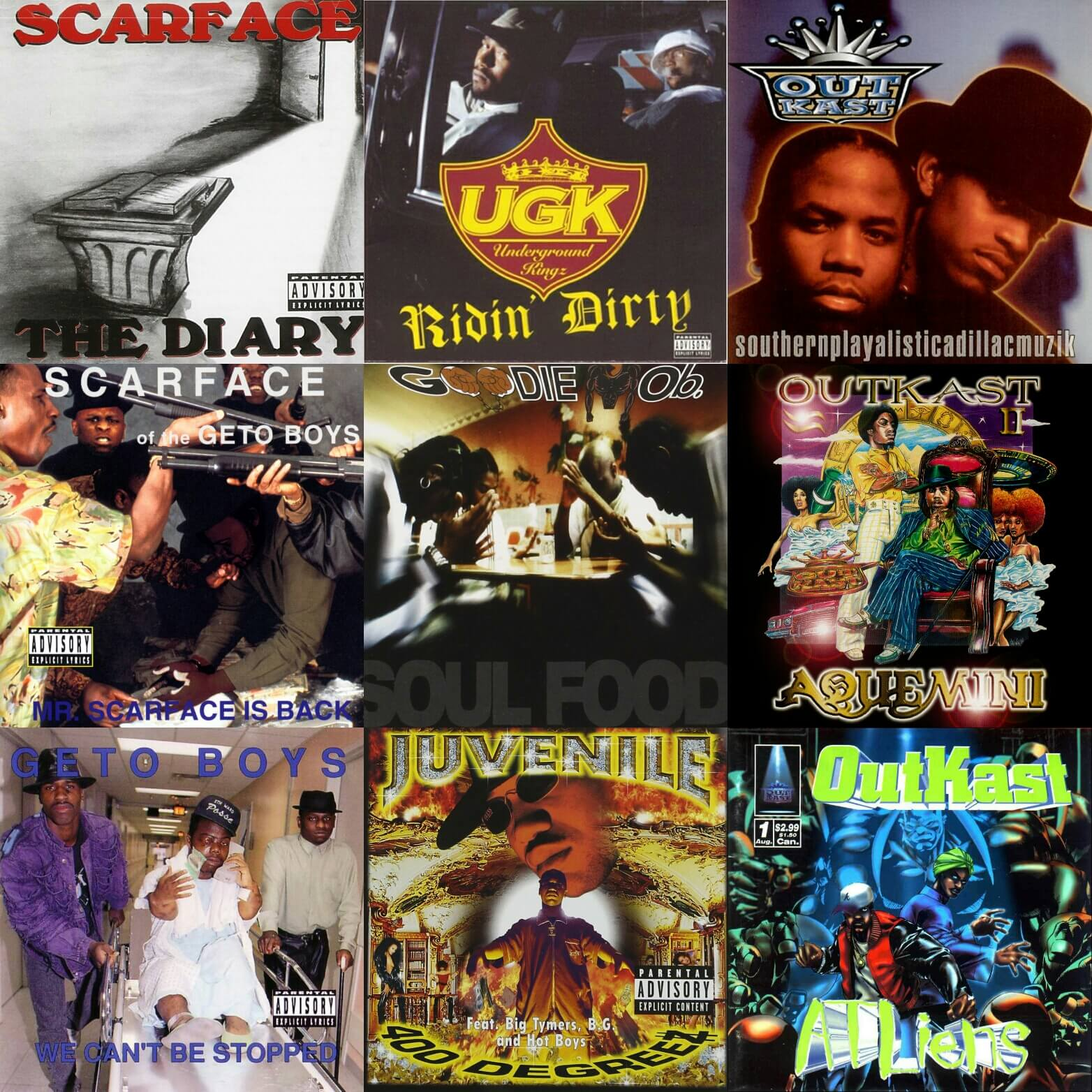 Top 15 Southern Hip Hop Albums    Of All Time - Hip Hop Golden Age