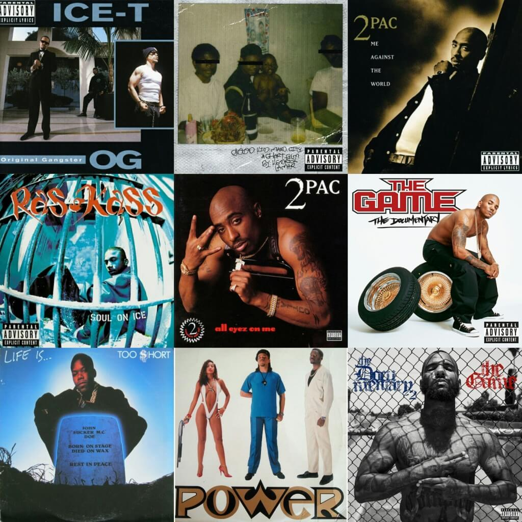 west coast hip hop albums