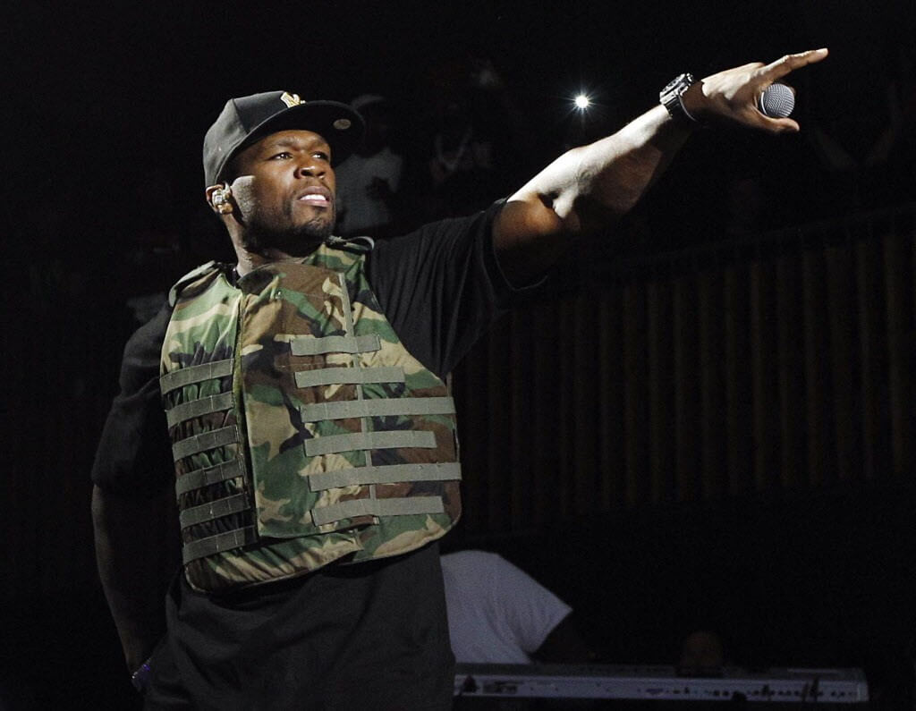 "FILE - This March 19, 2012 file image released by Fuse shows rapper 50 Cent, also known as Curtis Jackson, performing during the Fuse Live: Shady 2.0 SXSW concert at the Austin Music Hall in Austin, Texas. 50 Cent is out of the hospital after he was injured in a car accident in New York on Tuesday, June 26. A spokesperson for the 36-year-old says the rapper was taken to New York Hospital Queens and treated for ""minor neck and back injuries."" (AP Photo/Fuse, Brandon Wade) ORG XMIT: NYET637"
