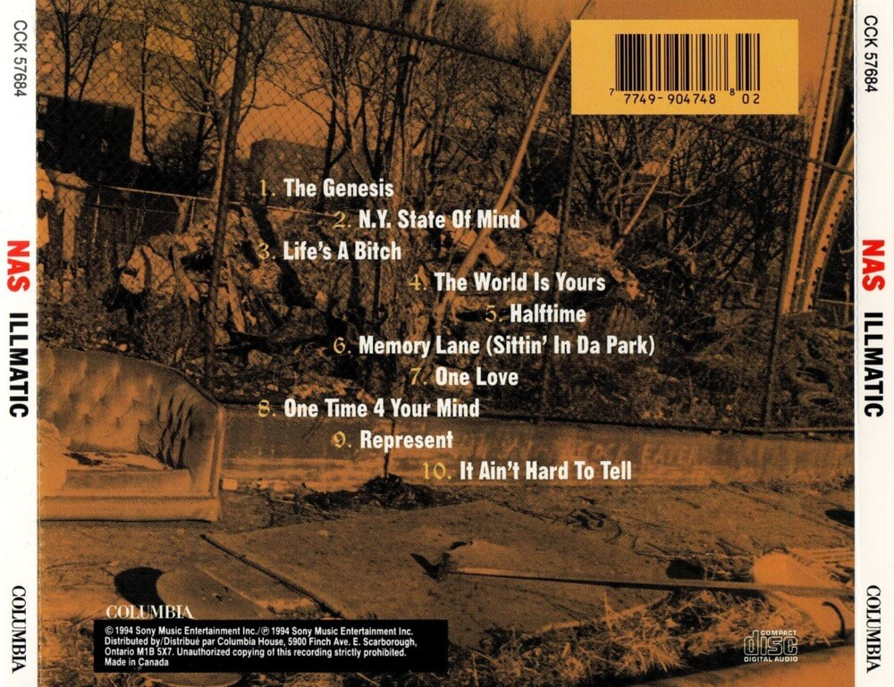 nas illmatic backcover cd