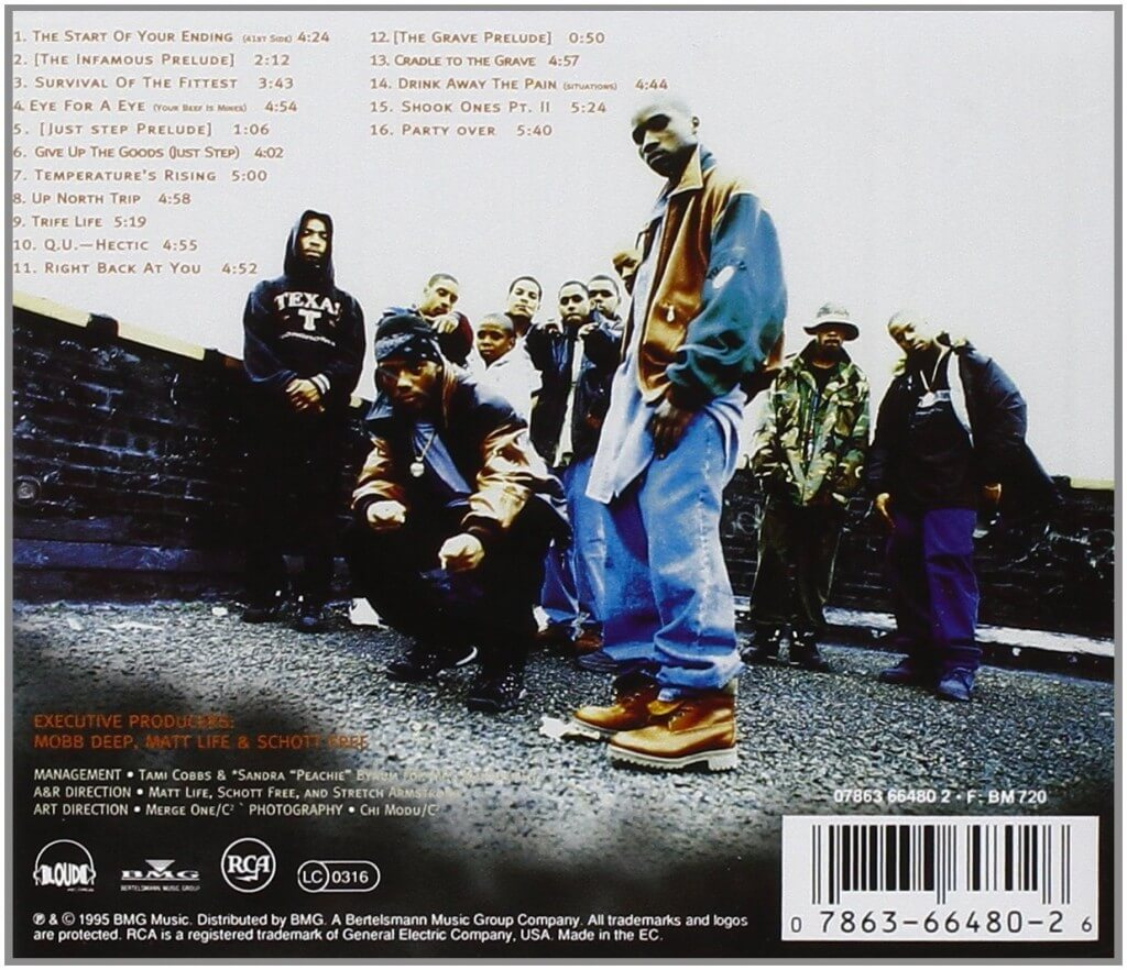 mobb deep the infamous back cover