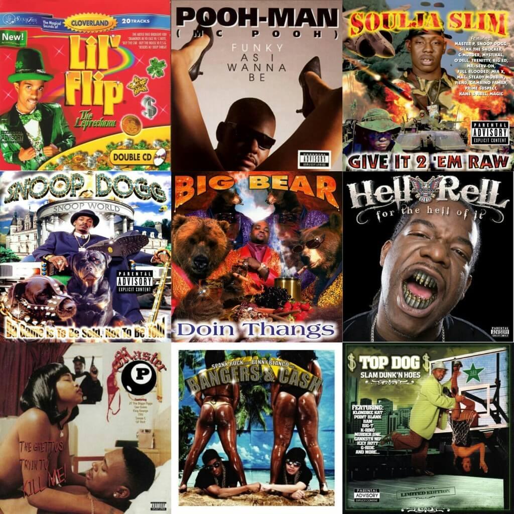 Ugly Hip Hop Album Covers