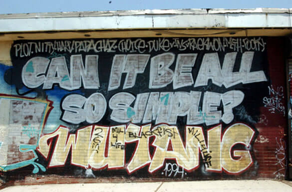 wu tang clan can it be all so simple grafitti