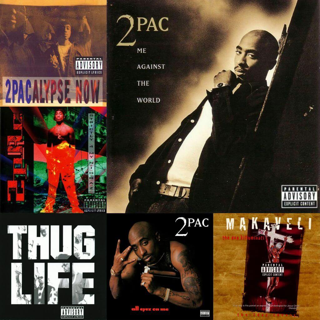 2pac album covers collage