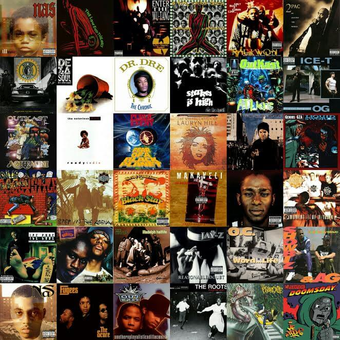 Top 100 Hip Hop Albums Of The 1990s - Hip Hop Golden Age Hip
