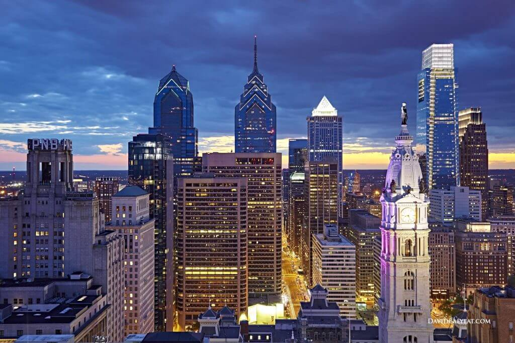 philadelphia-skyline-sunset-night-city-hall-william-pen-high-definition-hd-professional-photography