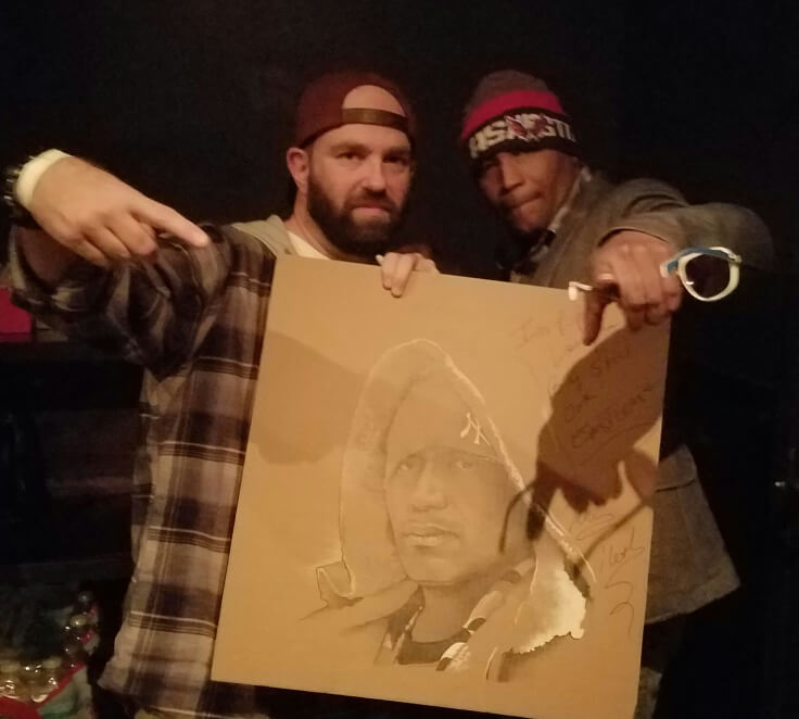 Andy Katz and Kool Keith – photo credit Malcolm Riddle