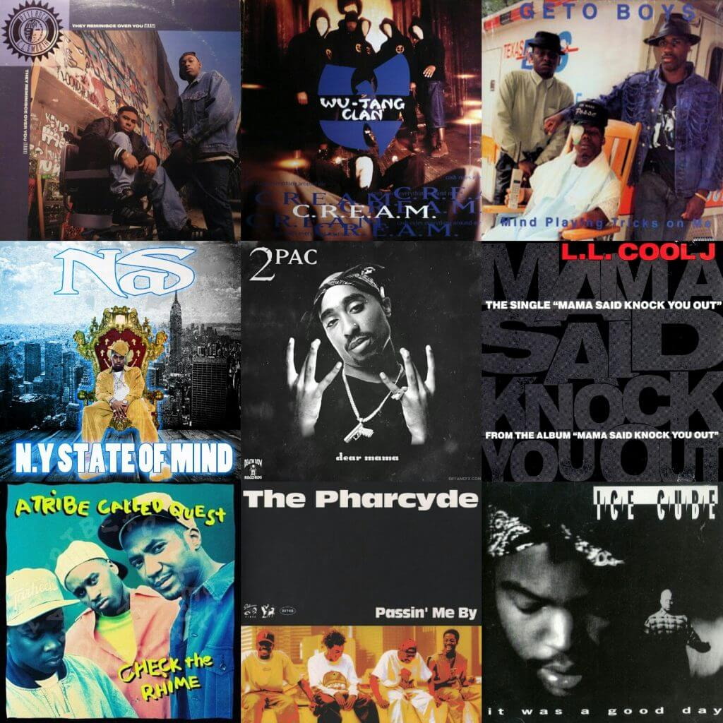 Top 100 hip hop songs of the 1990s hip hop golden age for Classic house albums 90s