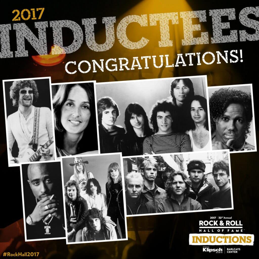 rock and roll hall of fame inductees 2017