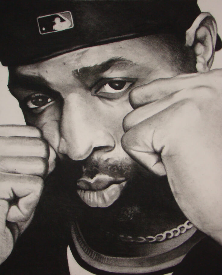 Mr. Chuck D – 16″ x 20″ Charcoal on Paper