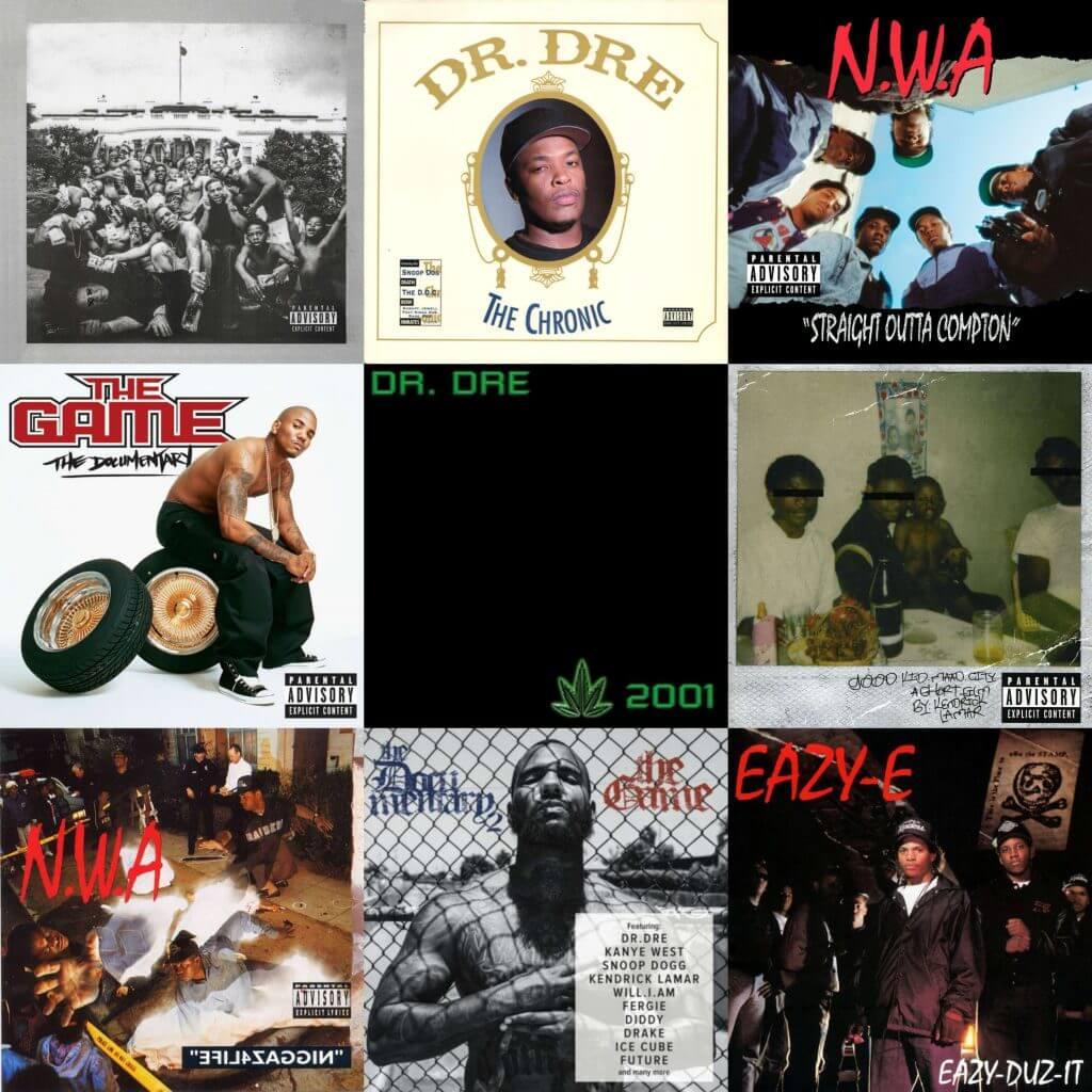 best hip hop albums compton
