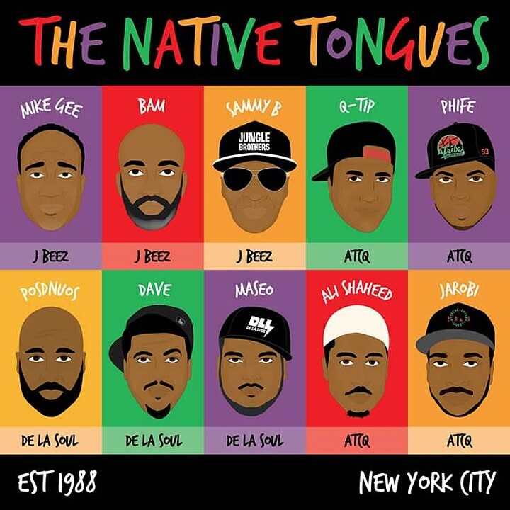 (Native Tongues collective illustration, Image Credit: Amy Cinnamon Art)