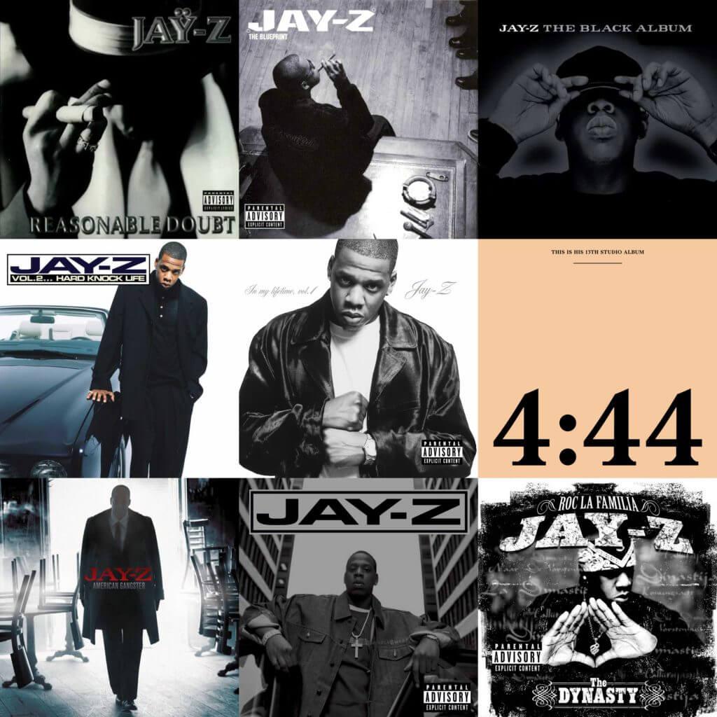 ranking jay z albums