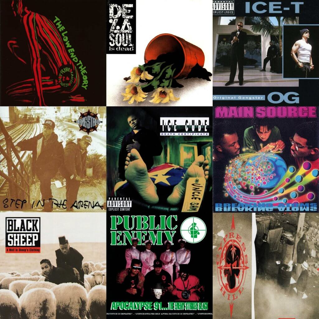 hiphop albums top 1991