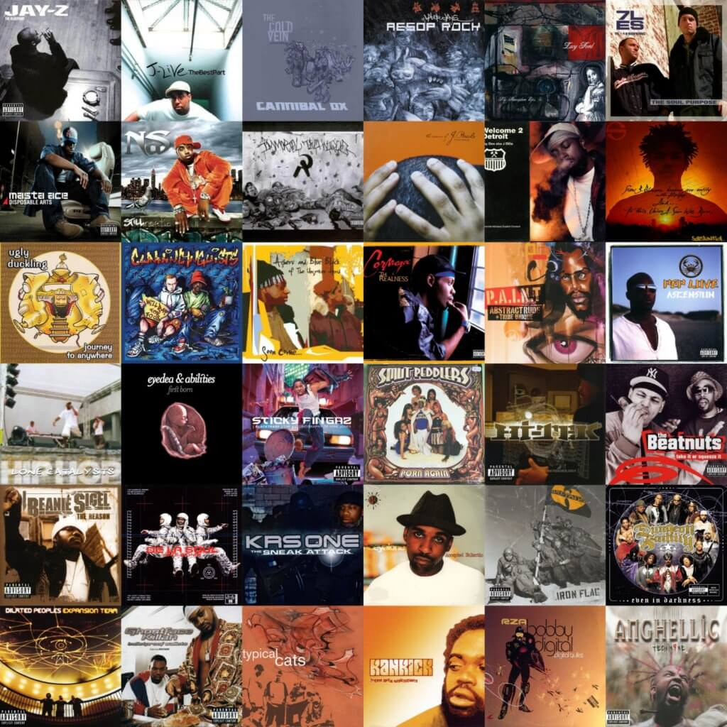 top 40 hip hop albums of 2001