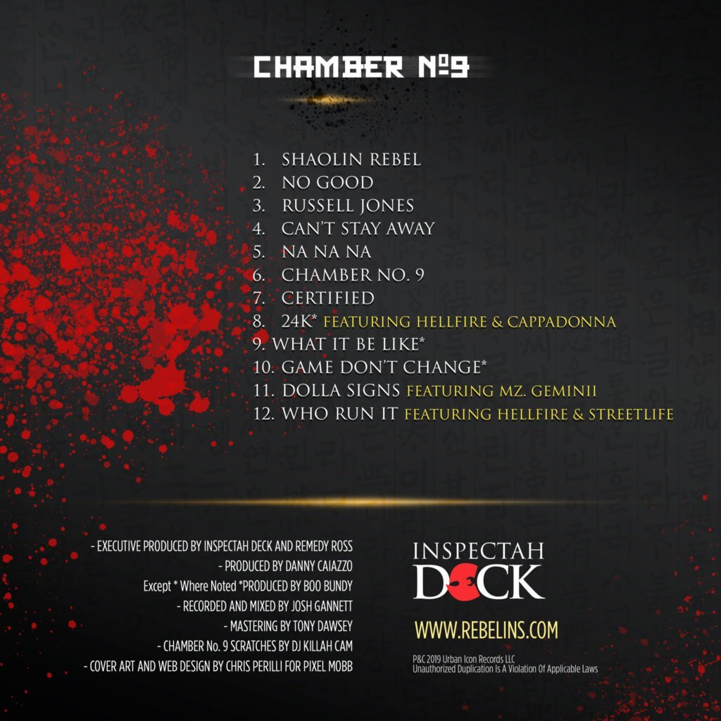 tracklist chamber no 9 inspectah deck
