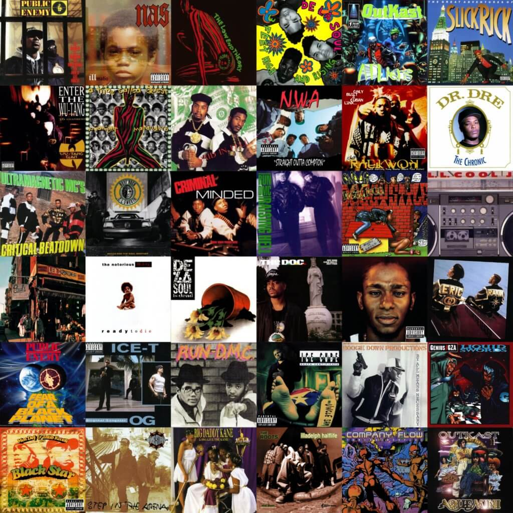 best hip hop albums 1980s 1990s