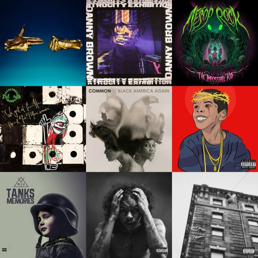 top 40 hip hop albums 2016